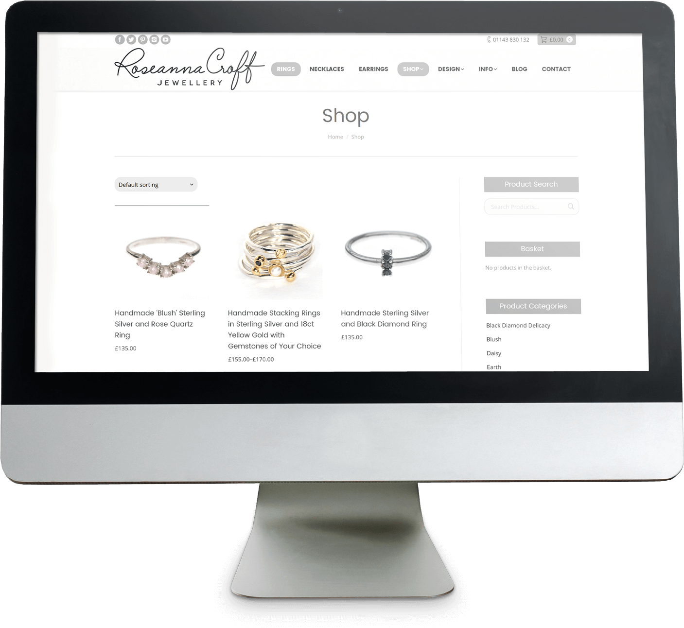 Roseanna Croft Jewellery screenshot