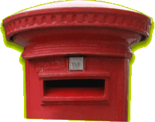 An old fashioned postbox, thank goodness email is much quicker than snail mail!